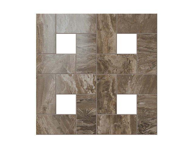 Керамогранит 45x45 S.M. Woodstone Taupe Mosaic Lap