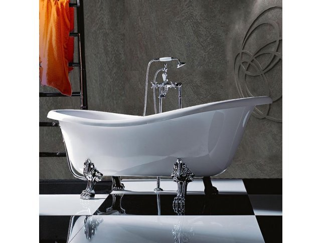 Ванна отдельностоящая на лапах TW TW176 bi/cr 1760х800 мм (белый/хром)