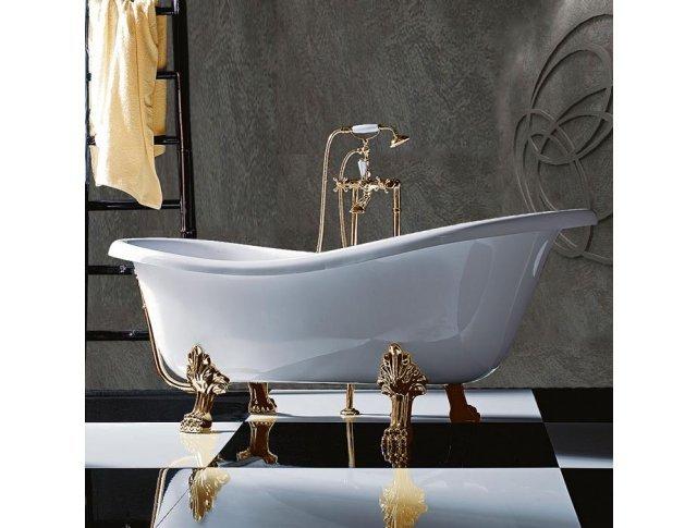 Ванна на лапах TW TW176 bi/oro 1760х800 мм (белый/золото)