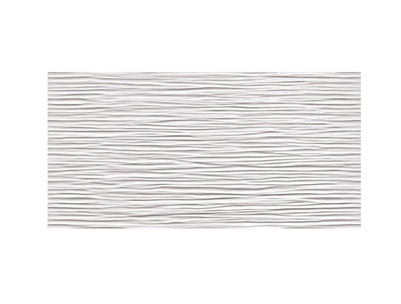 Настенная плитка 3D Wave White Glossy 40x80