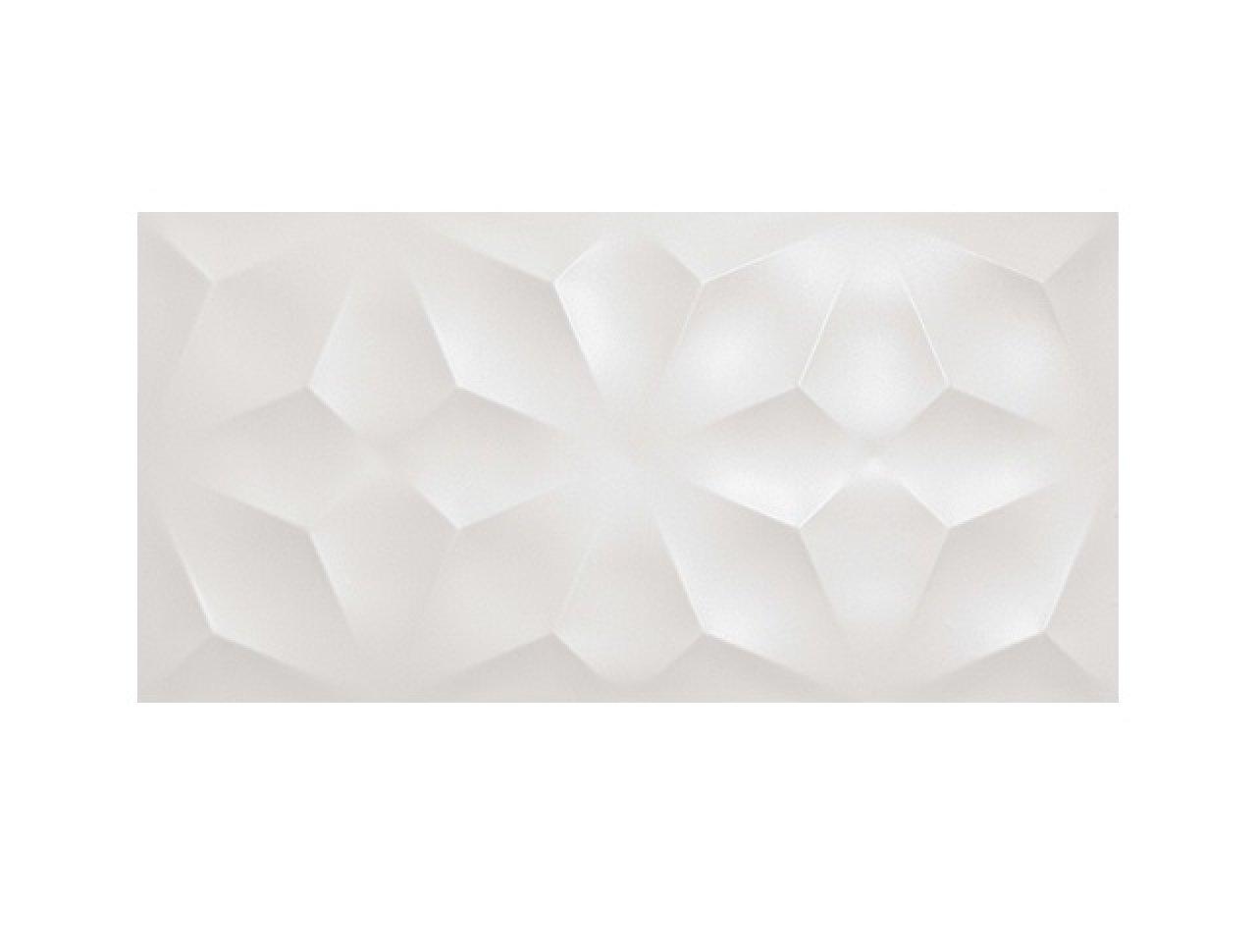 Настенная плитка 3D Diamond White Matt. 40x80