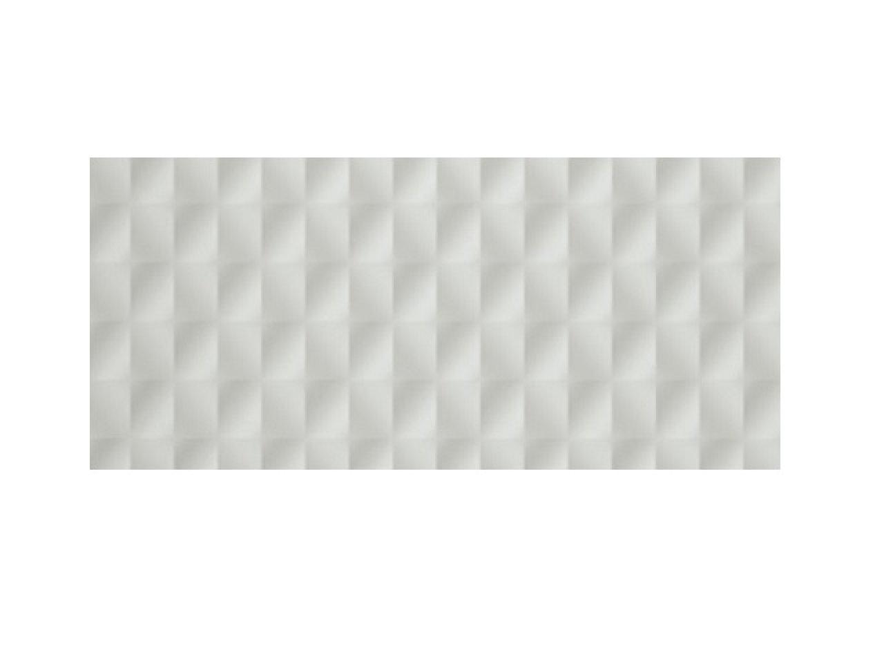 Настенная плитка 3D Mesh White Matt. 40x80