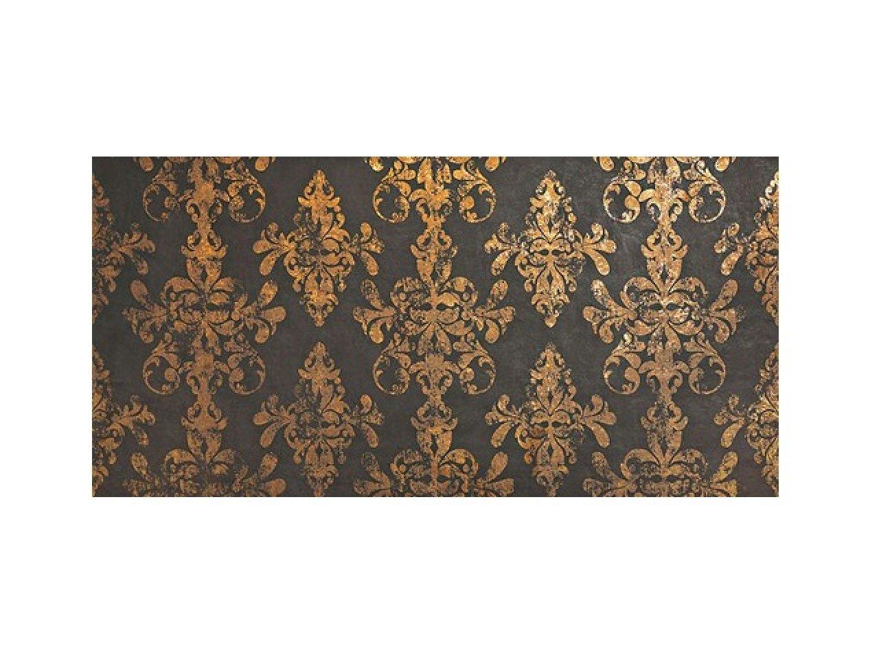 Настенная плитка Ewall Moka Gold Damask 40x80