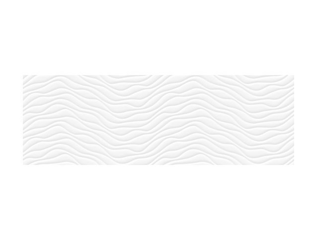 Настенная плитка  33,3x100 Wave White
