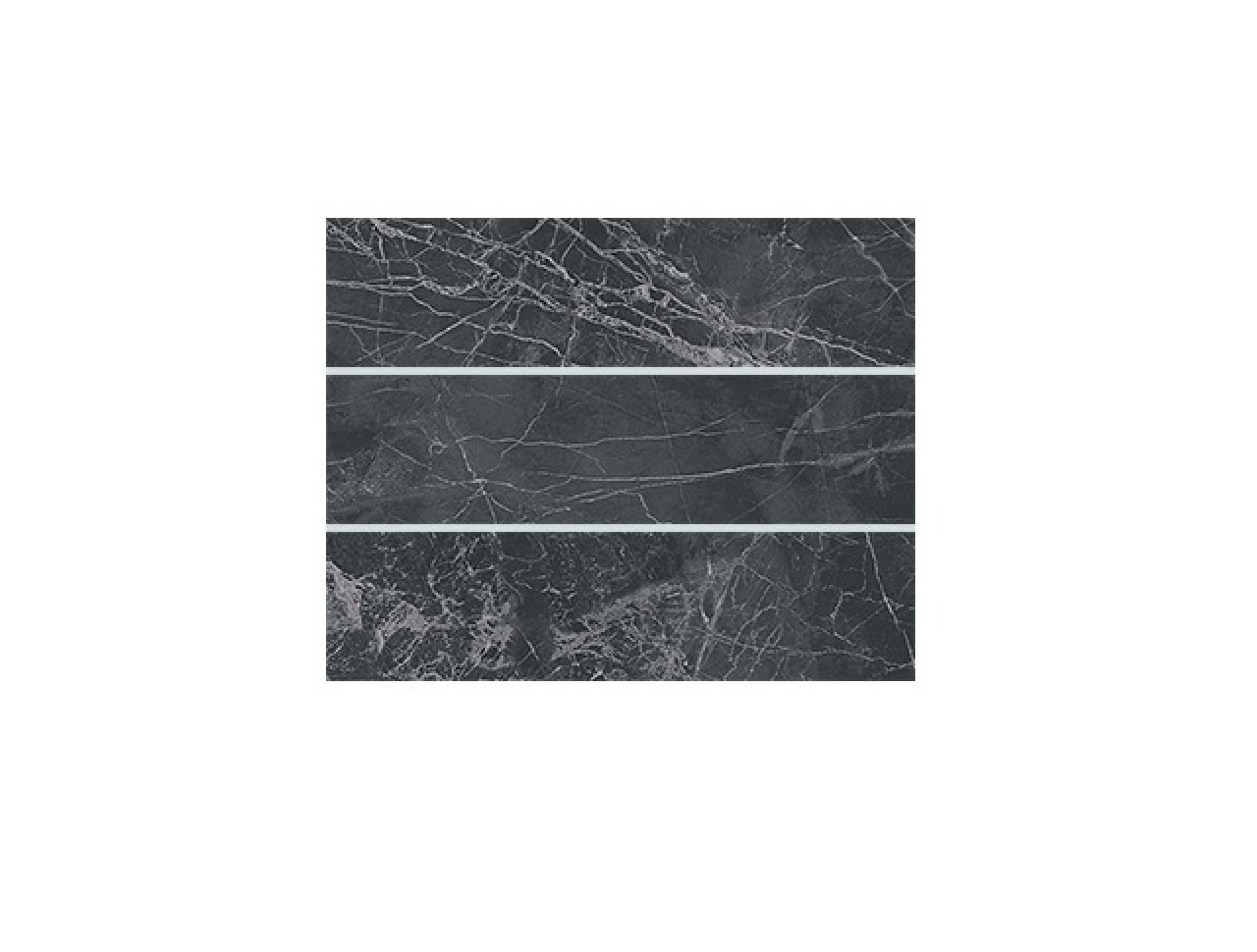 Настенная плитка Brick Noir S. Laurent 8x31.5
