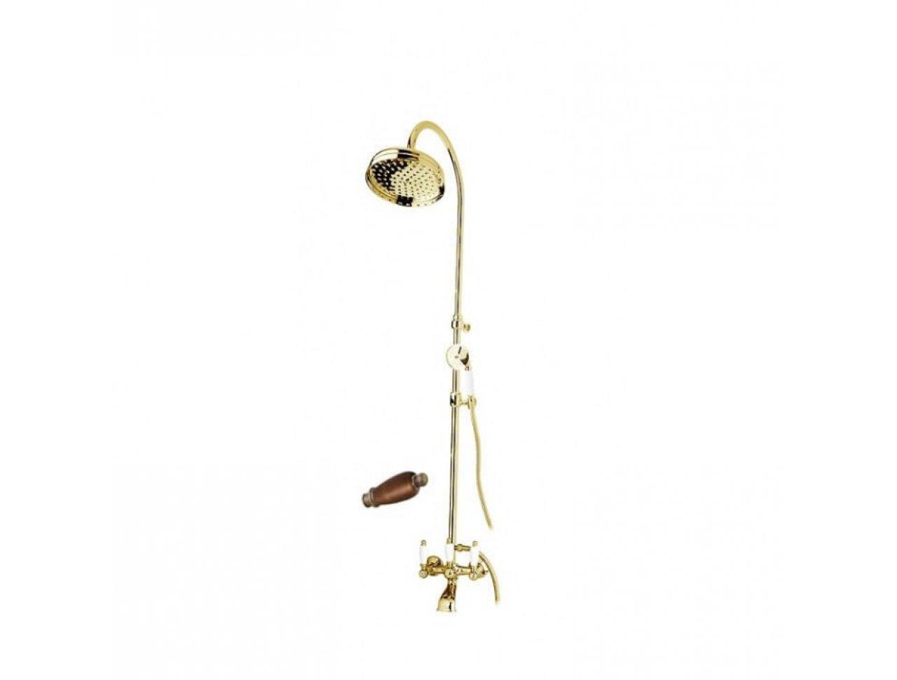 Душевая колонна со смесителем для ванны, верхним и ручным душем CEZARES FIRST-CVD-03/24-Nc